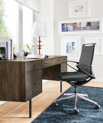 Hudson Desk With File Drawers Modern Desks Tables Office Furniture Room Board