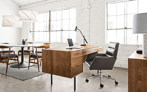 Hudson Desk with Tenley Leather Chair