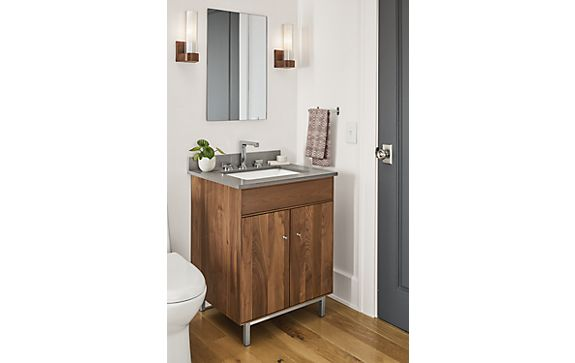 Hudson Single Sink Vanity in Walnut