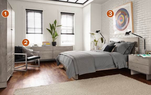 Bedroom Boards Collection hudson collection in shell stain - modern bedroom furniture - room