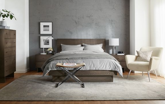 Bedroom Boards Collection hudson bedroom collection in bark stain - modern bedroom furniture