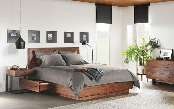 Nice Hudson Queen Wood Storage Bed Open Drawer