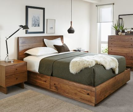 Bedroom Boards Collection hudson storage collection in walnut - modern bedroom furniture