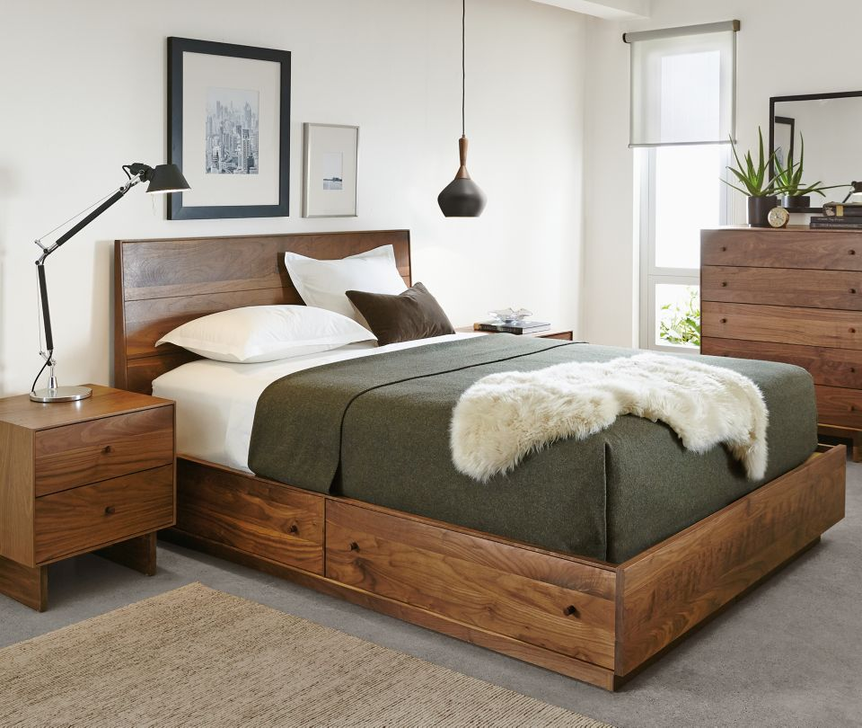 Hudson bedroom collection in walnut