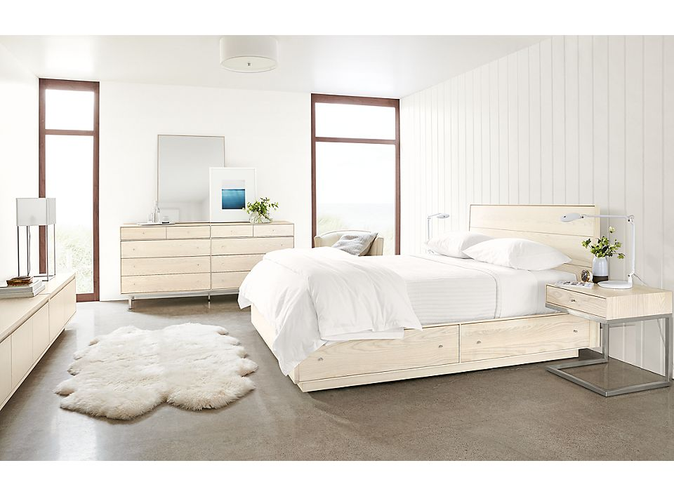 Hudson bedroom collection in sand stain