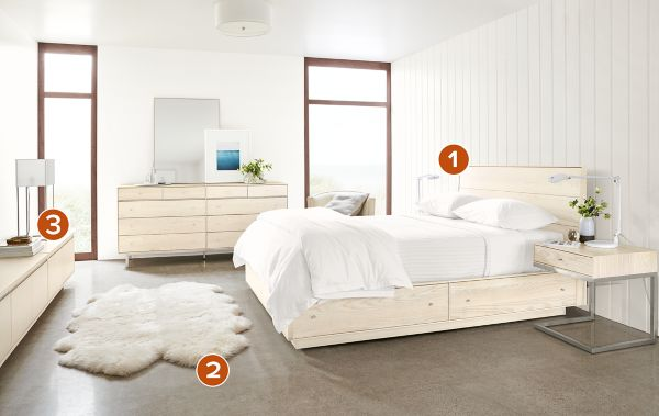 Hudson Bedroom Collection In Sand