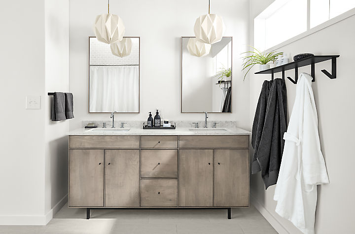 Hudson double sink bathroom vanity