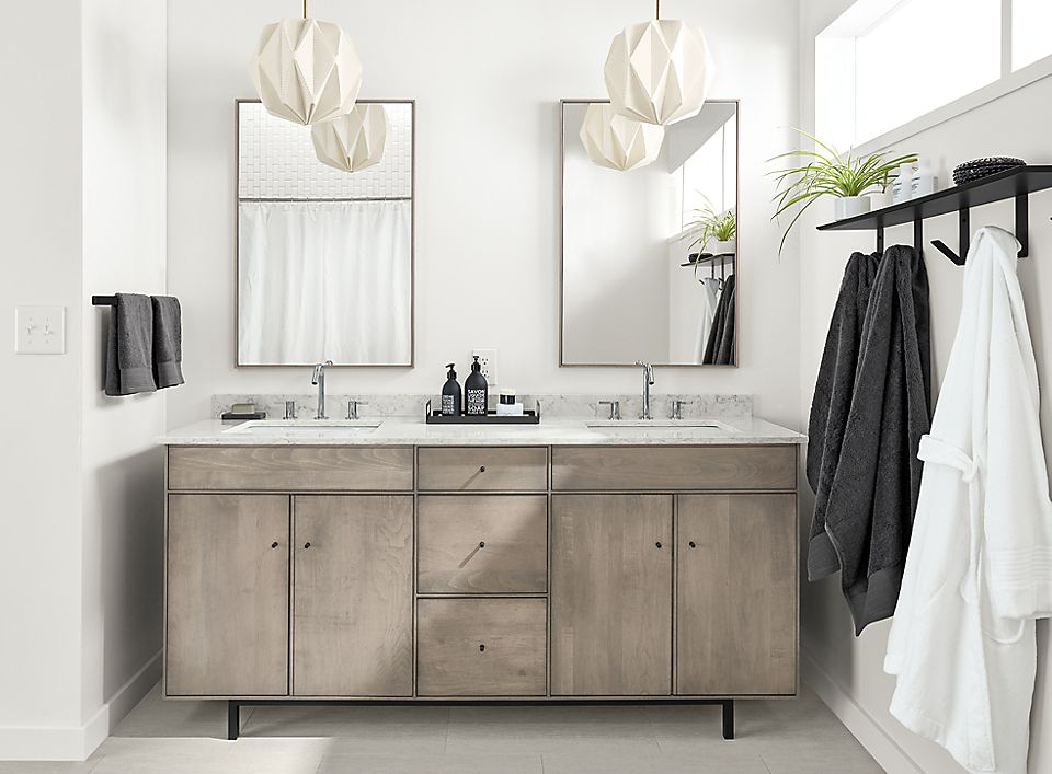 Hudson double sink bathroom vanity