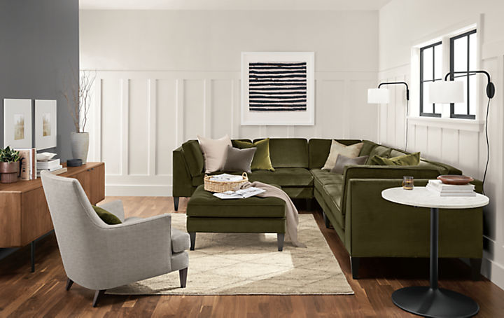 Detail of Hutton three-piece sectional