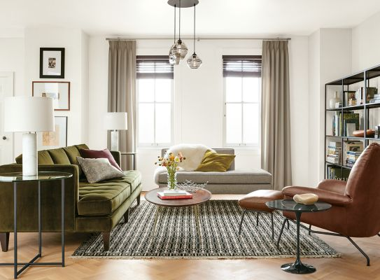 Exceptionnel Hutton Sofa In Vance Olive Fabric