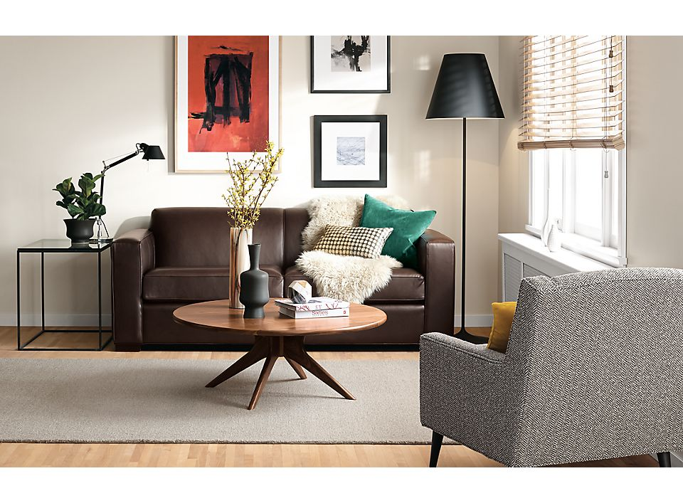 Ian Custom 81 Quot Sofa In Urbino Espresso Leather Room Amp Board