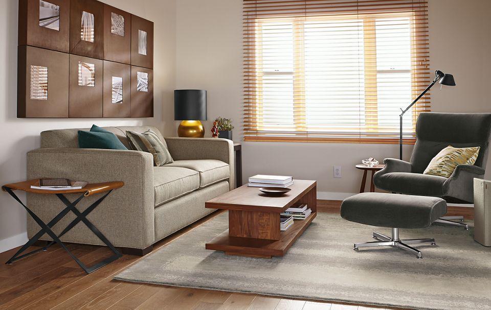 Detial of grey Ian 81-inch sofa
