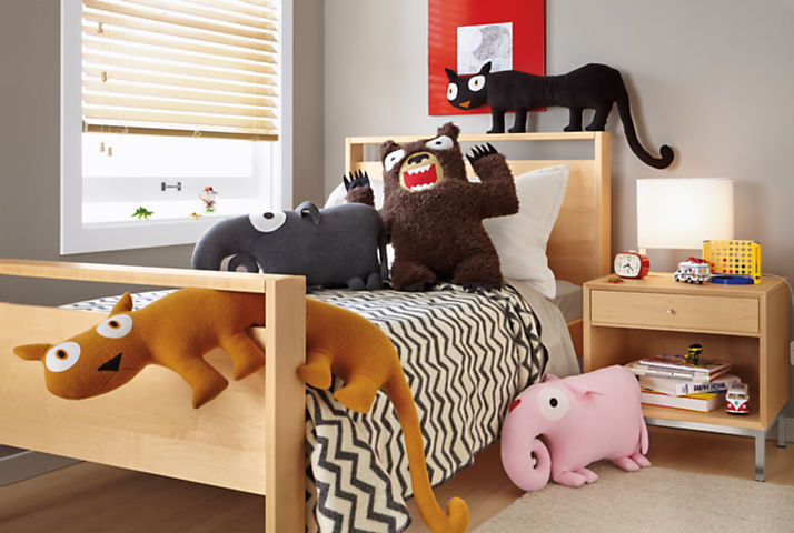 Detail of Indy Plush kids' room pillows