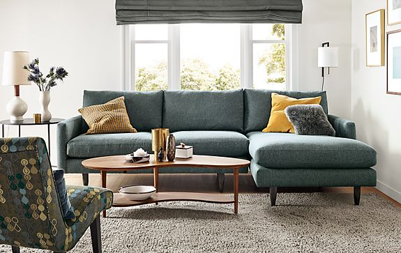 Jasper Sofa With Chaise Modern Living Room Furniture