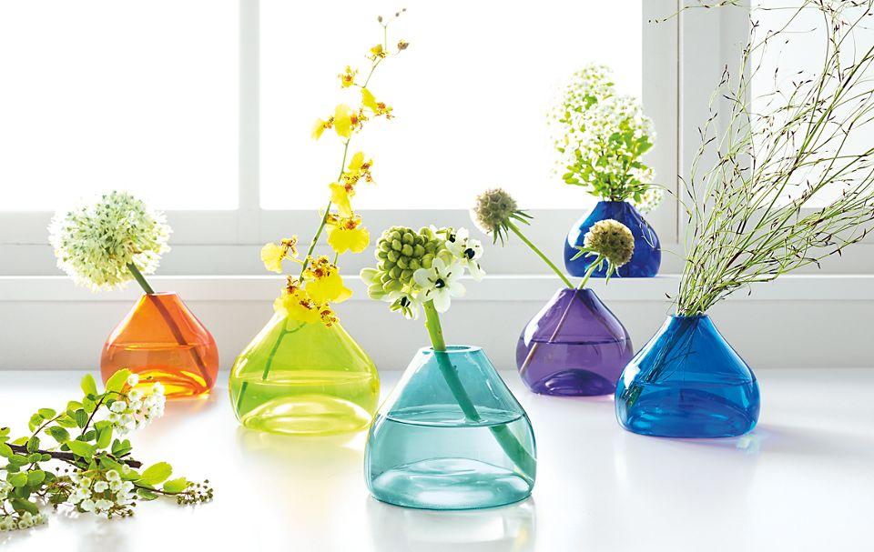 Detail of set of Jewel bud vases