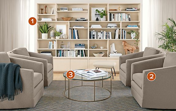 Keaton Wall Unit in Sand Living Room