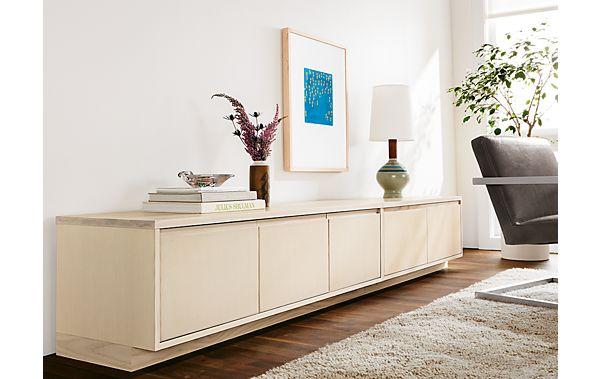 Keaton Media Cabinets In Sand Modern Living Room
