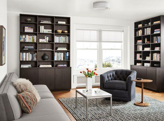 Perfect Keaton Bookcase In Charcoal