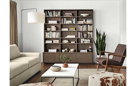 Keaton Custom Bookcase Living Room Storage - Modern Living Room ...