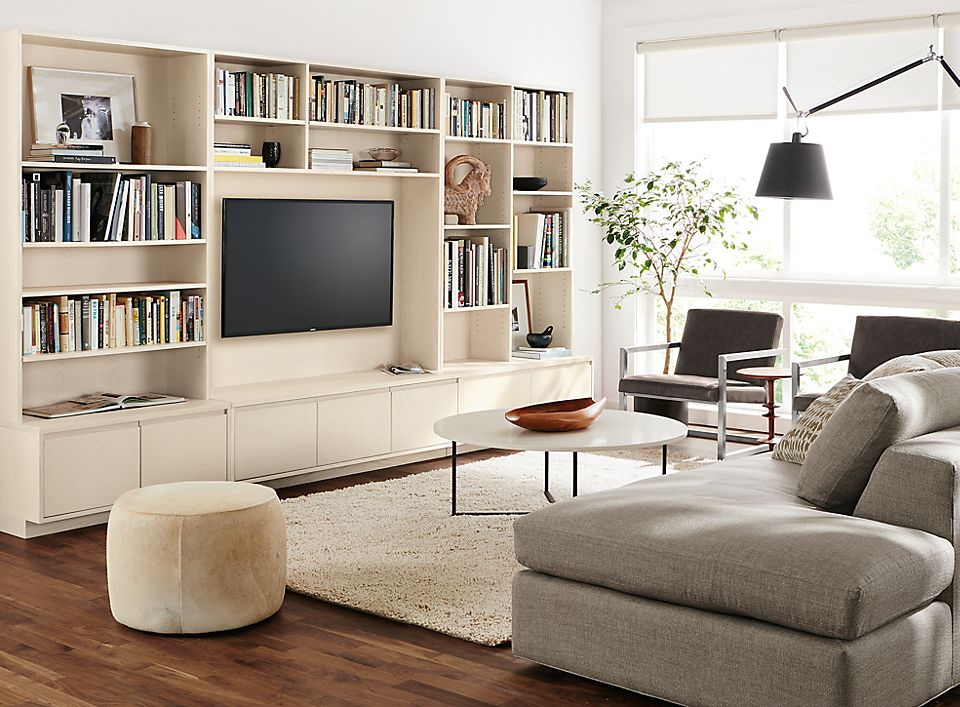 Keaton Bookcase Wall Unit In Sand Room Board