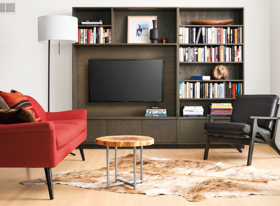 Detail of Keaton 98-inch wall unit
