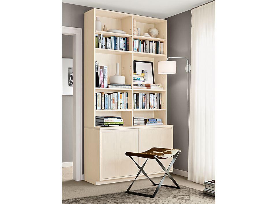 Detail of Keaton custom bookcase