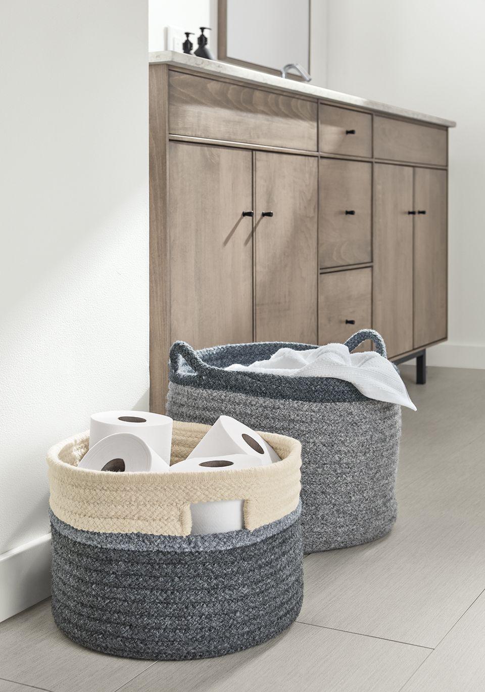 Detail of Kori decorative storage bins