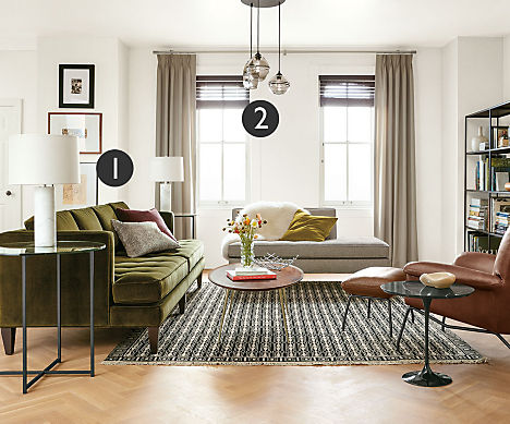 living room lighting ideas position table lamps or floor lamps so the bottom of the lampshade is just below eye level when youre seated - Living Room Lamp Table