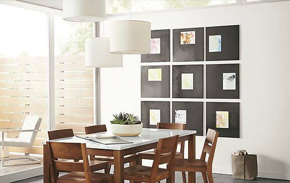 Manhattan Frames in Natural Steel - Modern Home Decor - Room & Board