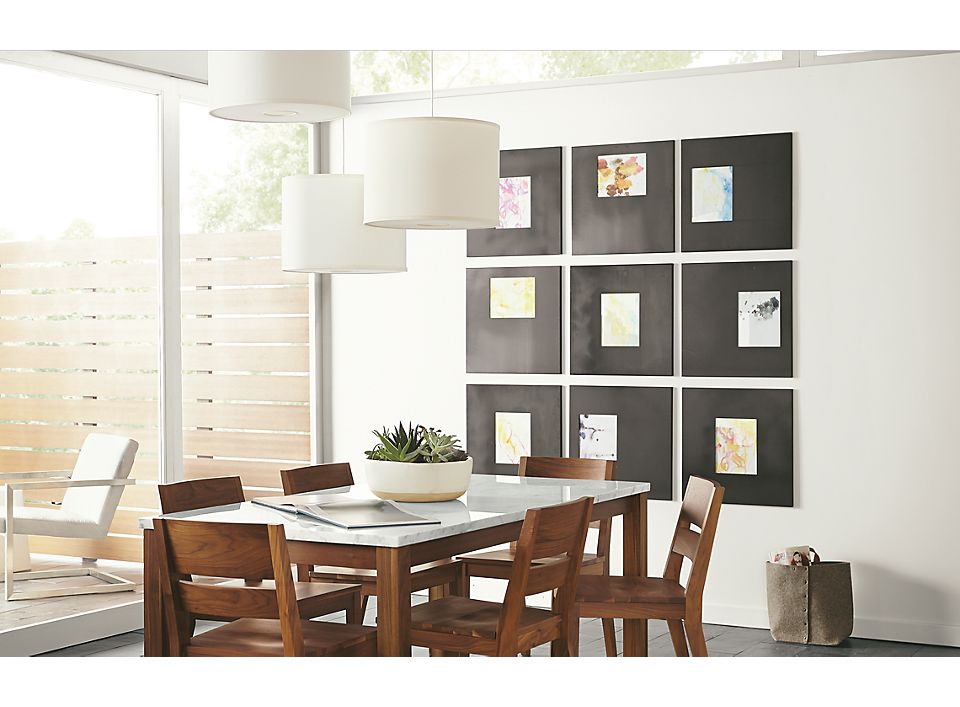 Manhattan Frames in Natural Steel - Home Decor - Room & Board
