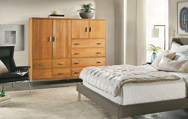 Linear Modular Cabinet Bedroom Storage - Modern Custom Furniture ...