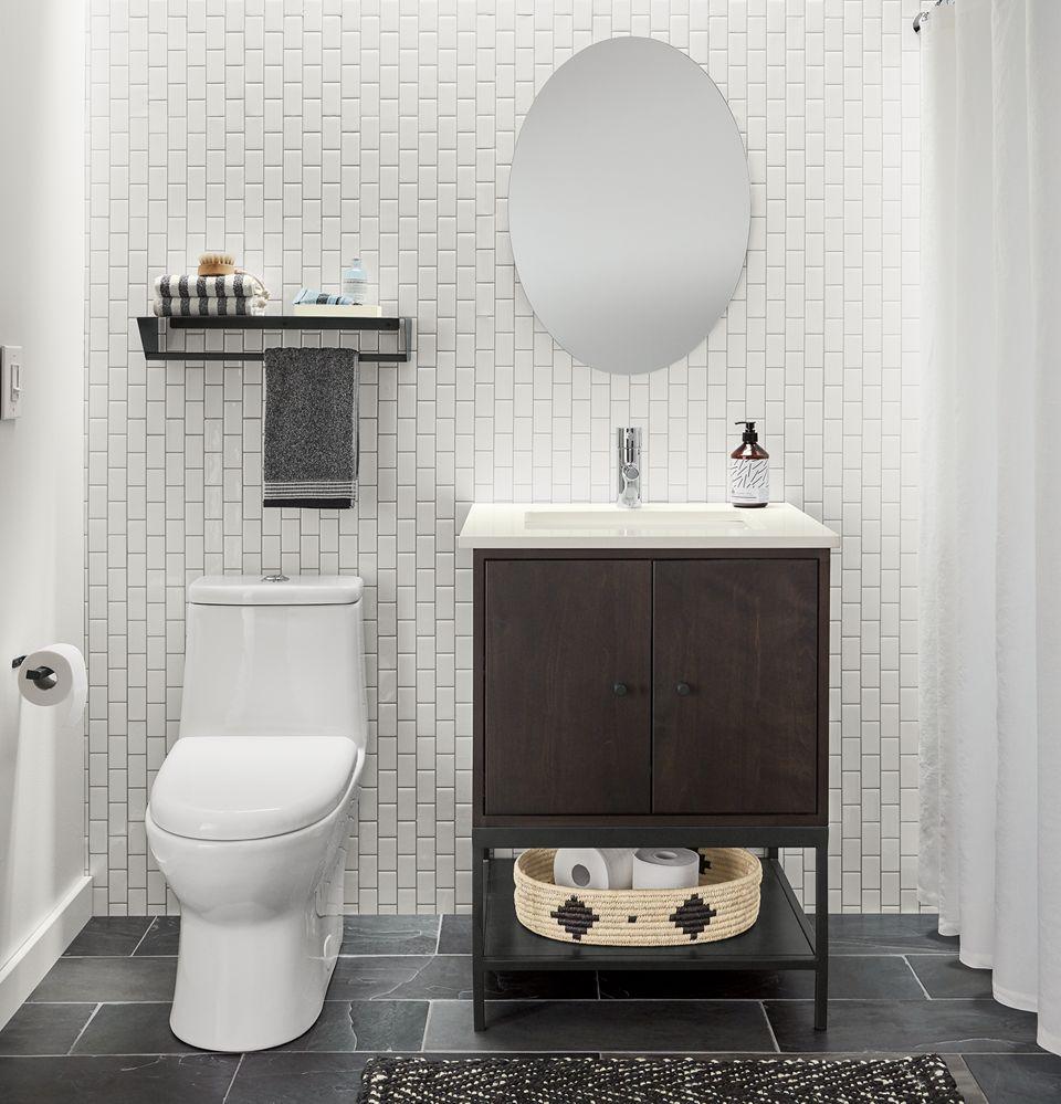 Detail of Linear single bath vanity