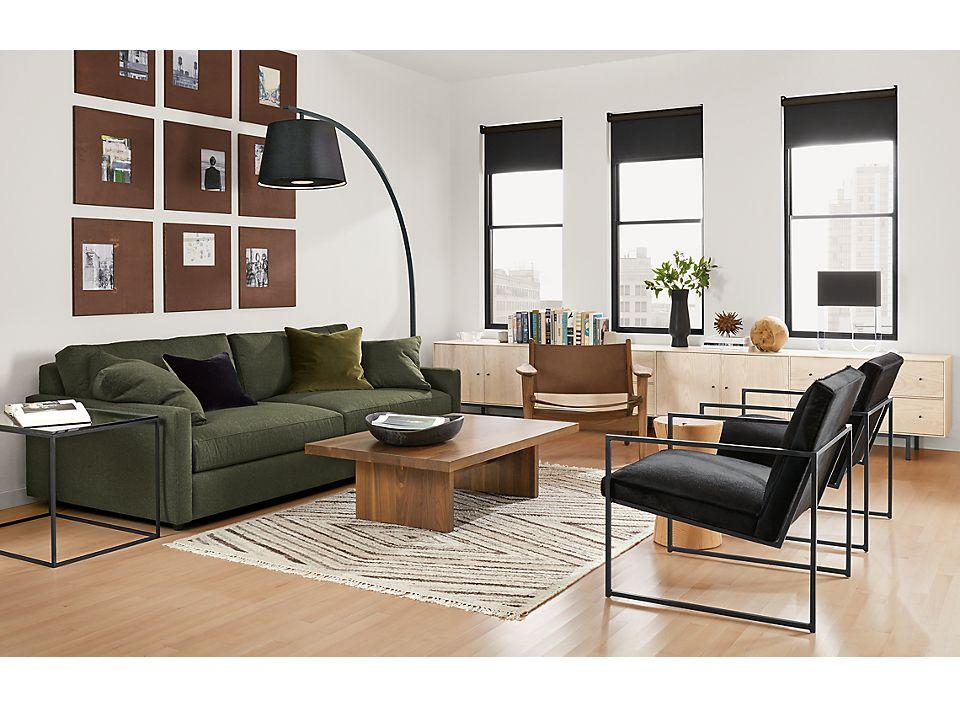 Detail of Linger sofa in modern living room