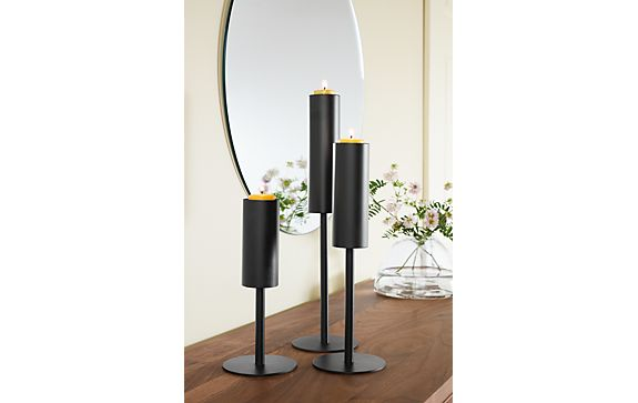 Lucent Candle Holders in Graphite