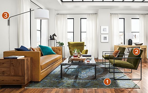 Macalester Sofa with Novato Chair Living Room