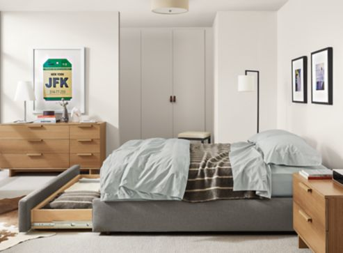 Bedroom Boards Collection mallory storage bed with ashby collection - modern bedroom