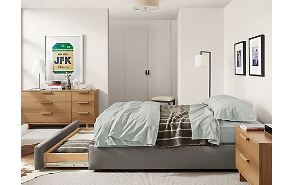 Mallory Storage Bed with Ashby Dressers