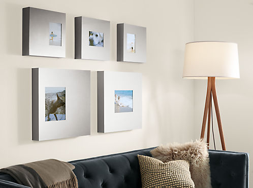 Manhattan Modern Box Picture Frames In Stainless Steel Modern