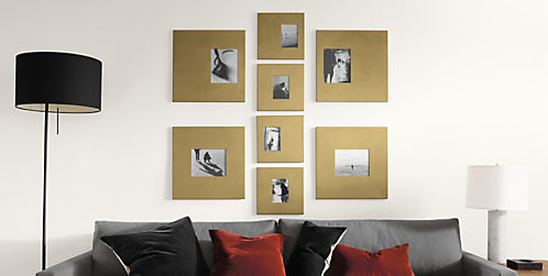 Manhattan Modern Picture Frames in Gold - Modern Picture Frames ...