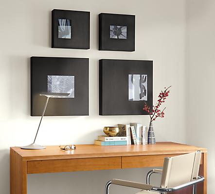 Manhattan Modern Box Picture Frames In Natural Steel Modern
