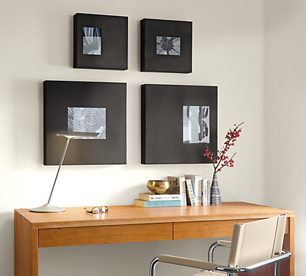 Manhattan Modern Box Picture Frames in Natural Steel - Modern ...