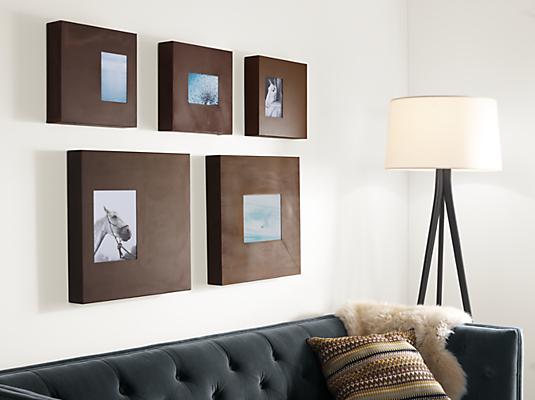 Manhattan Modern Box Frames In Patina Modern Picture Frames