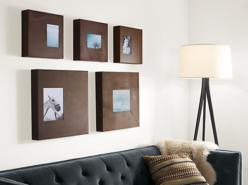 Manhattan Modern Box Frames in Patina - Modern Picture Frames ...