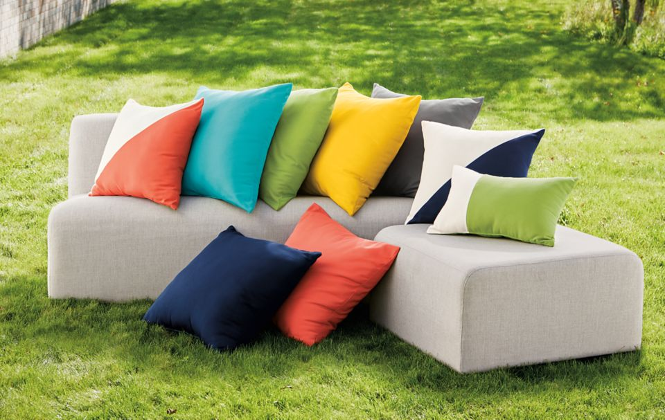 Detail of Maritime canvas pillows