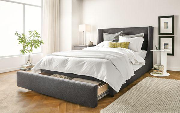 Marlo Upholstered Storage Bed - Modern Beds & Platform Beds - Modern ...