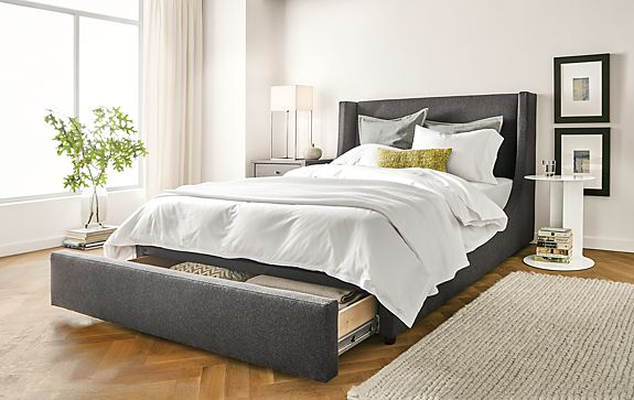Marlo Storage Drawer Bed Modern Bedroom Furniture Room