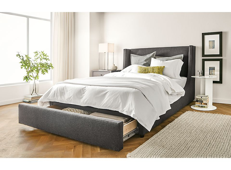 Modern Marlo queen storage bed