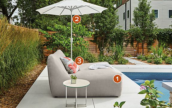 Maya Double Chaise Outdoor Space