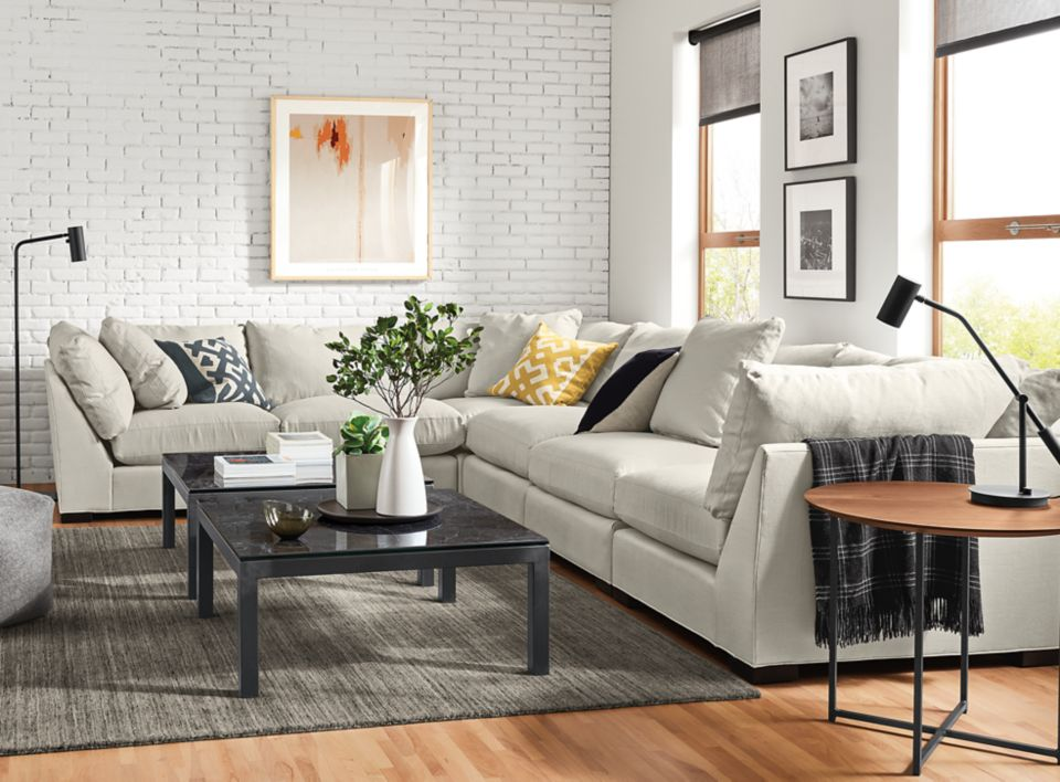 Detail of Mayer six-piece sectional