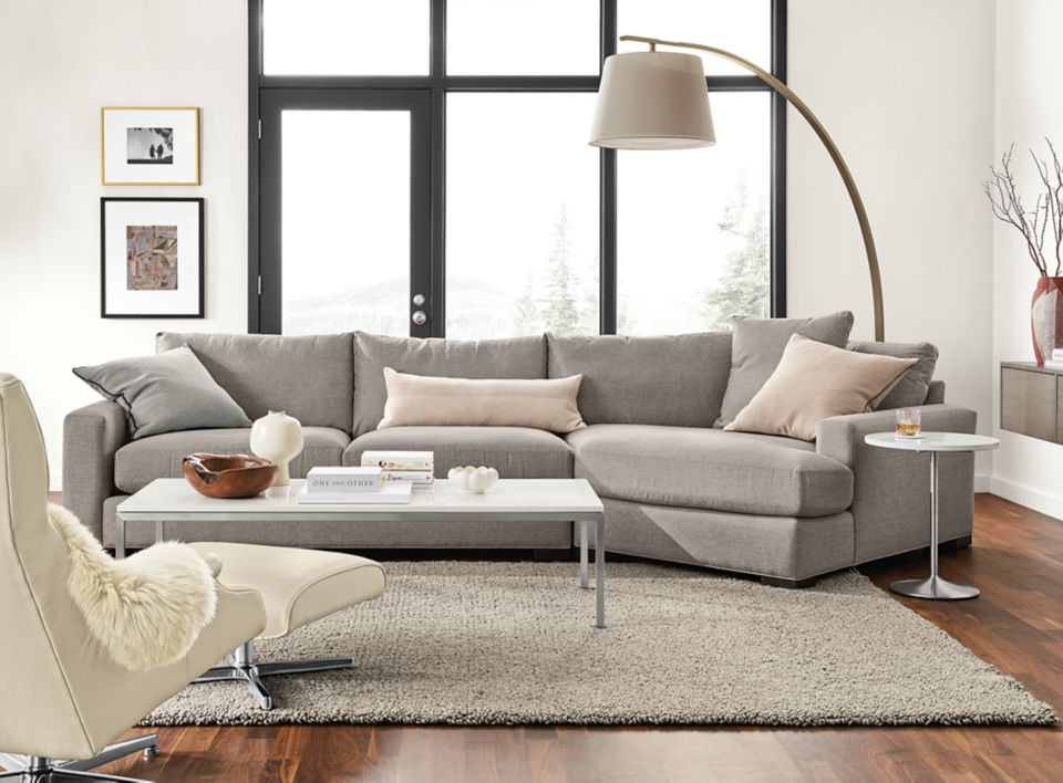 Mayer sofa with right-arm angled chaise